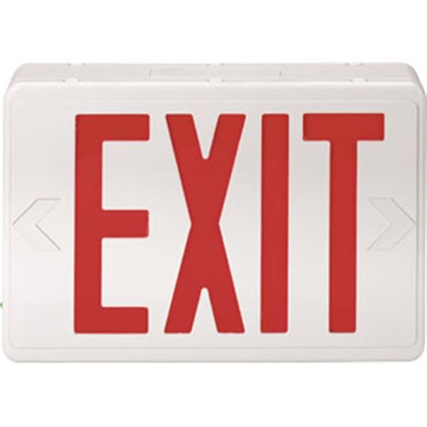 Red LED Exit Sign (AC only)