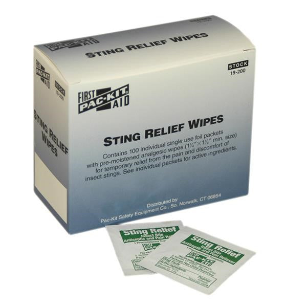 Sting Relief Swabs (100/Box)