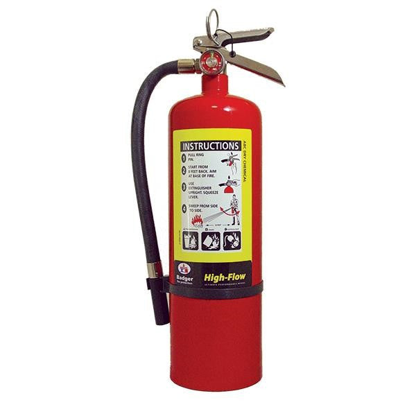 Badger™ Extra-High Flow 10 lb ABC Extinguisher w/ Wall Hook