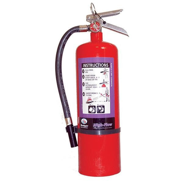 Badger™ Extra-High Flow 10 lb Purple K Extinguisher w/ Wall Hook