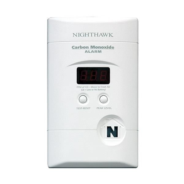 Plug-In Deluxe CO Alarm w/Digital Display (6 Pack)