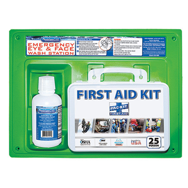 First Aid Kit & Eyewash Station