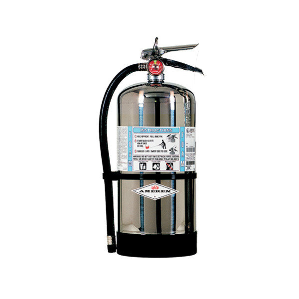 Amerex® 6 L AFFF Foam Extinguisher w/ Brass Valve & Wall Hook