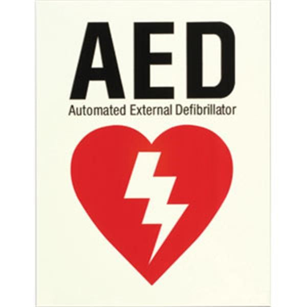 Glow-In-The-Dark AED Sign