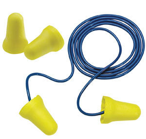 3M™ E-A-R™ E-Z-Fit™ Corded Earplugs, Hearing Conservation 312-1222 in Poly Bag  (200pr/bx)