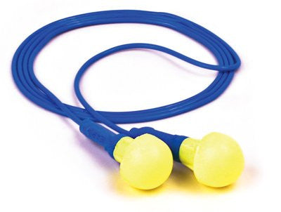 3M™ E-A-R™ Push-Ins™ Corded Earplugs, Hearing Conservation 318-1001 in Poly Bag  (100pr/bx)