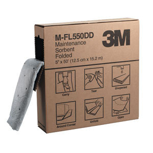 3M™ Maintenance Sorbent Folded M-FL550DD, Environmental Safety Product, High Capacity, (3ea/cs)