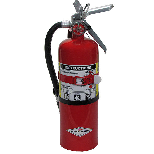 Amerex® 5 lb ABC Extinguisher w/ Aluminum Valve & Vehicle Bracket