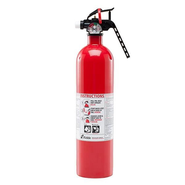 Kidde Automotive 2.75 lb BC Extinguisher w/ Steel Strap Bracket (Disposable)