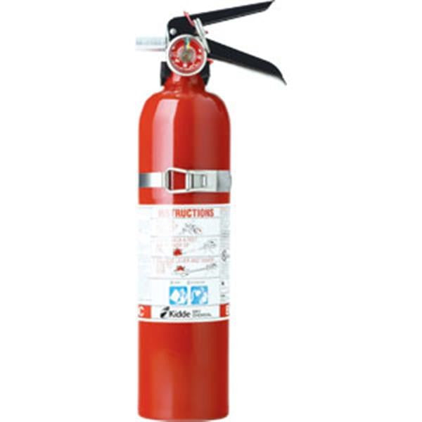 Kidde 2.75 lb BC Automotive FC10M Extinguisher w/ Plastic Bracket w/ Metal Strap (Rechargeable)