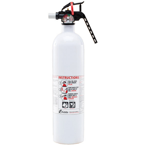 Kidde Mariner 10 3 lb BC Fire Extinguisher w/ Plastic Strap Bracket (Disposable)