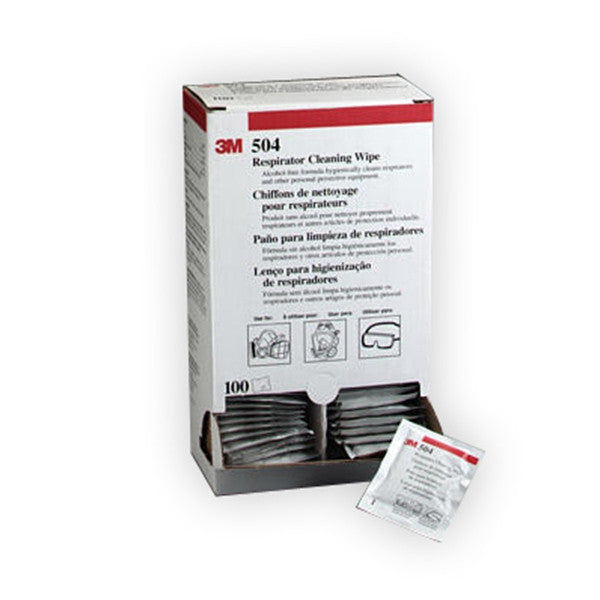 3M™ Respirator Cleaning Wipe 504 (100ea/bx)