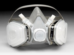 3M™ Half Facepiece Disposable Respirator Assembly 52P71, Organic Vapor/P95 Respiratory Protection, Medium