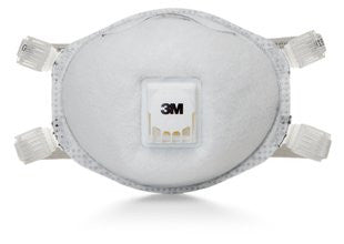 3M™ Particulate Respirator 8514, w/ Cool Flow Valve, N95, with Nuisance Level Organic Vapor Relief (10ea/bx)