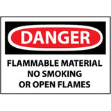 OSHA Danger Flammable Material No Smoking...