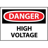 OSHA Danger High Voltage