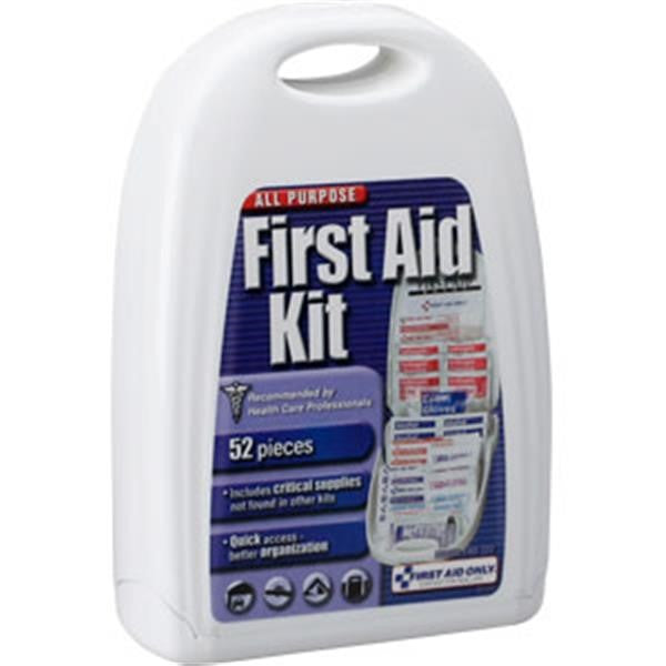 52-Piece All-Purpose First Aid Kit (Plastic Case)