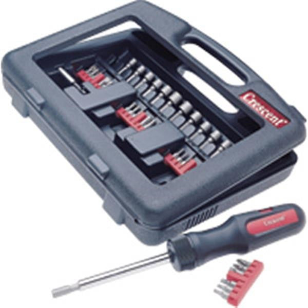 Crescent® 34-Piece Dura-Driver Ratchet Set