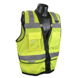 Class 2 Heavy Duty Surveyor Safety Vest with Zipper