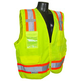 Class 2 Surveyor Heavy Duty Solid Twill Safety Vest