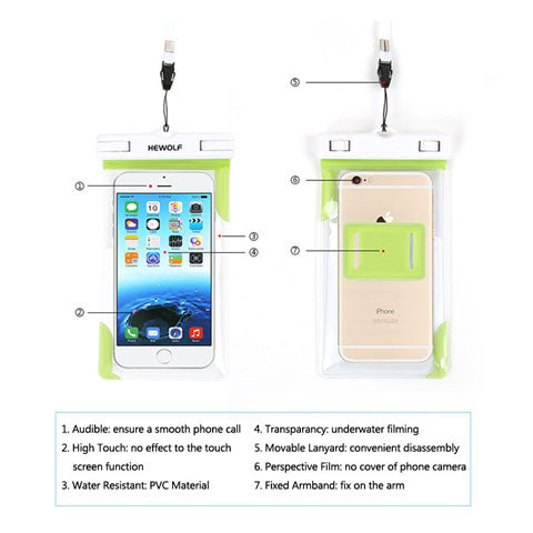 waterproof phone case product details