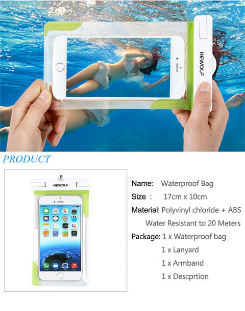 waterproof phone case for underwater cam