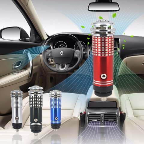 car air ionizer removes dust