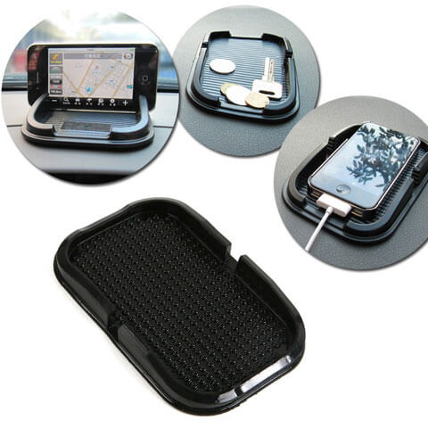 car sticky pad mat with accessories