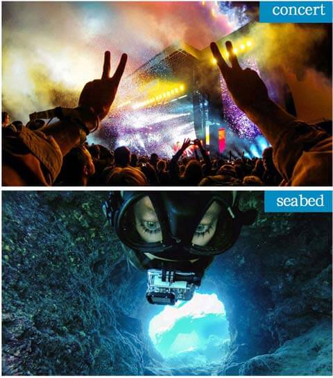 gopro headstrap for concert and underwater swimming