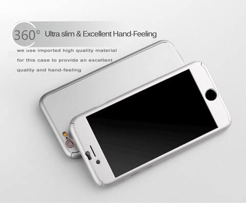 hybrid 360 degrees tempered glass armor case for iphone 6 6s 6plus ultra thin features