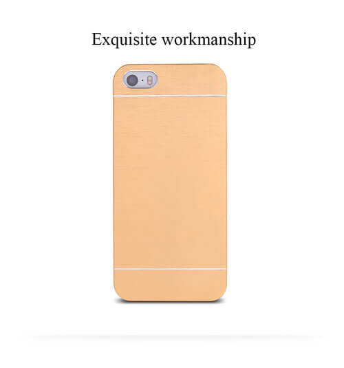 iphone 5 case aluminum brush back design