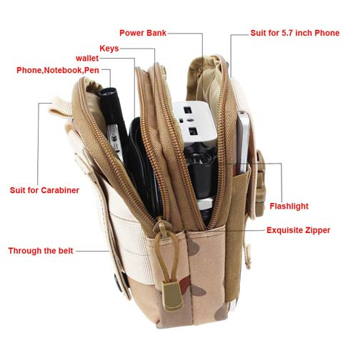 molle waist pouch pockets