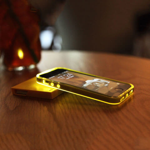 platinum led hybrid case for iphone on a table