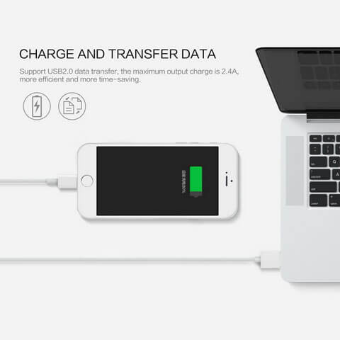 smart charging cable for charging and data transfer