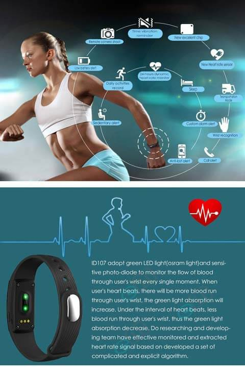 smart fitness tracks heartbeat rate