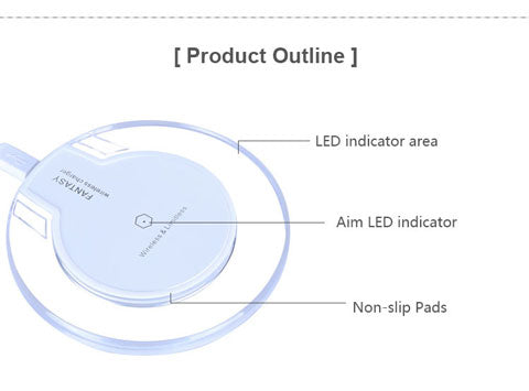 wireless charging station for iphone product outline