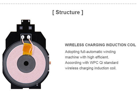 wireless charging station for iphone structure