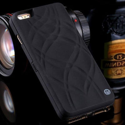 iphone case with mirror and card slot black
