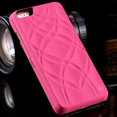 iphone case with mirror and card slot pink