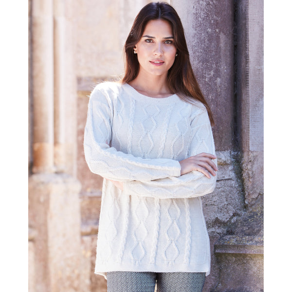 Ariane Cable Sweater - Spirit of the Andes