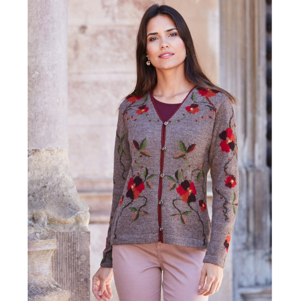 Elvira Intarsia Cardigan - Spirit of the Andes