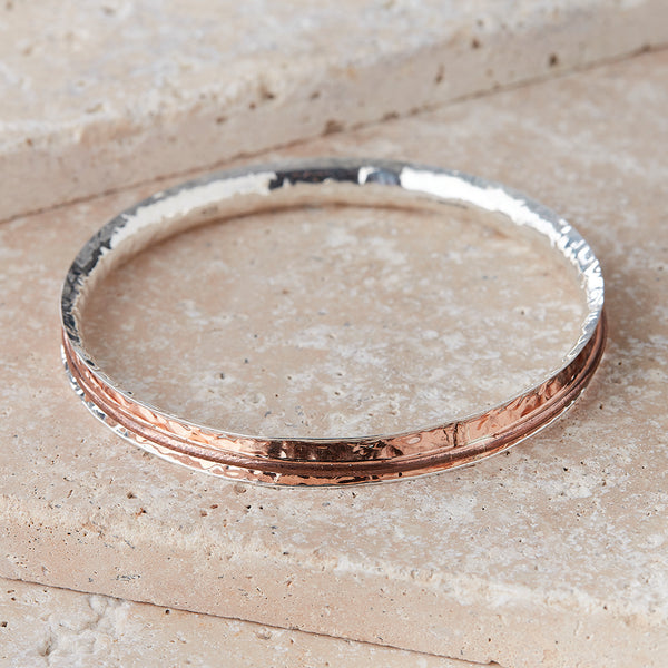 Silver & Copper Bangle - Spirit of the Andes