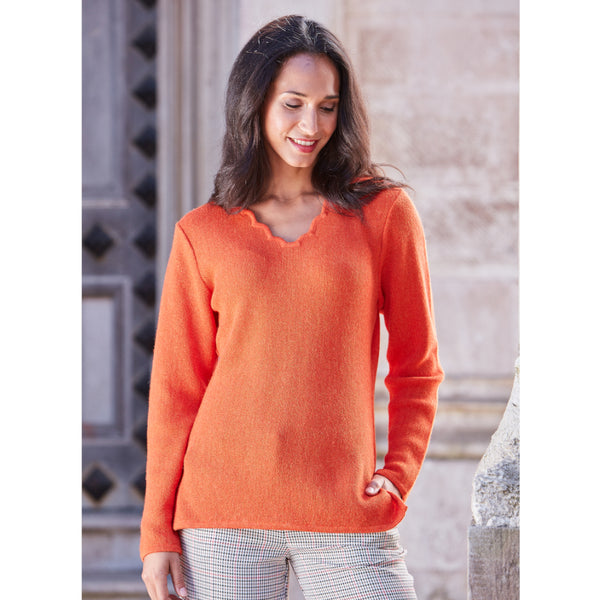 Katia Scallop V-Neck - Spirit of the Andes