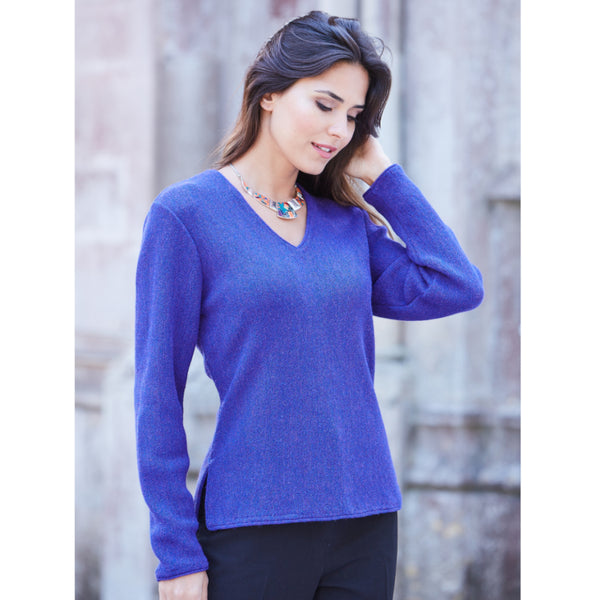 Maria V-neck Baby Alpaca Sweater - Spirit of the Andes