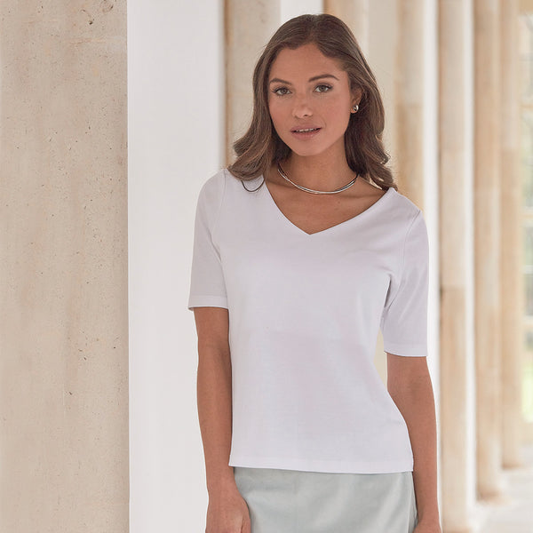 Mariana Semi-Fitted Pima Cotton Top - Spirit of the Andes