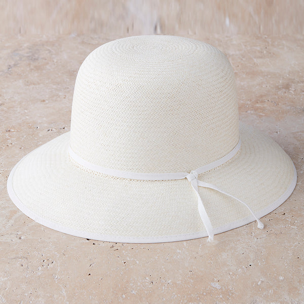 Trimmed Capeline Panama Hat - Spirit of the Andes