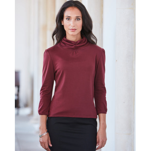 Yessica Semi-Fitted Pima Cotton Turtleneck Top - Spirit of the Andes