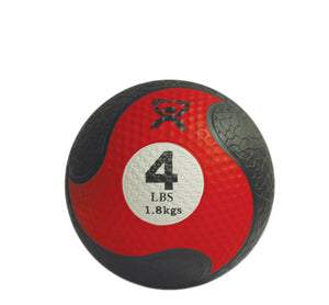 "CanDo® Firm Medicine Ball - 8"" Diameter - Red - 4 lb:"