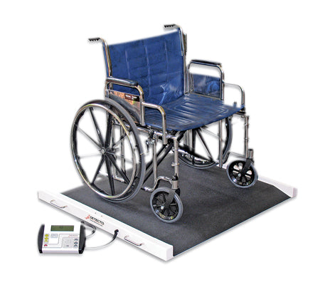 Detecto® Bariatric / Wheelchair Scale - 1100 lb x .5 lb - 49 x 45 x 8 inch Footprint