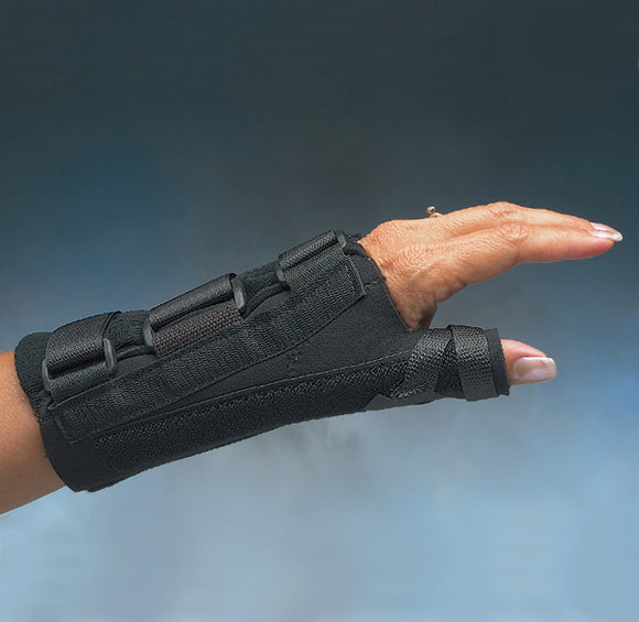 Comfort-Cool  D-Ring Thumb and Wrist Splint- SHORT